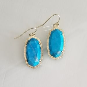 Kendra Scott Aqua Howlite Dani Earrings